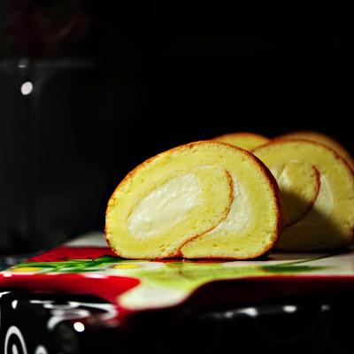 戚风奶油蛋糕卷----自家手做蛋糕好吃的秘诀就是原料
