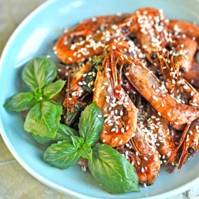 北极虾的台味下酒菜--三杯北极虾