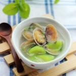 最适合夏季的清爽美容汤——【丝瓜花蛤汤】