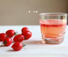夏季清爽饮料——番茄桃汁