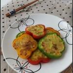 巧手妈妈的一个小小变化就可以使你的孩子食欲大增——彩椒葫芦虾仁饼