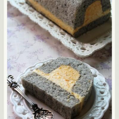 家常食材打造非一般口感的甜品─黑芝麻南瓜奶冻慕斯