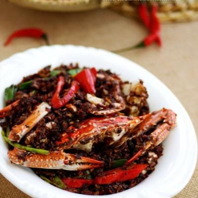 火辣辣的热情火辣辣的菜——助中国健儿霸气外露的避风塘炒蟹