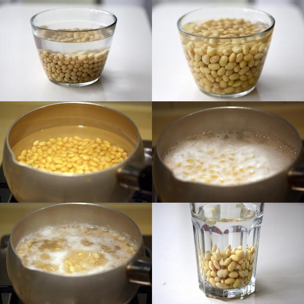 不用豆浆机做一人份新鲜豆浆
