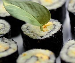 繎子美食----用藏红花饭做【素味寿司】