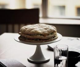 鲜奶油水果蛋糕(菠萝包造型)