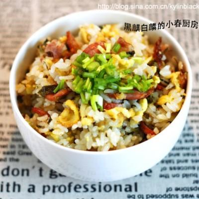 培根雪菜蛋炒饭-白米饭的前世今生,华丽大变身