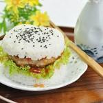 15分钟搞定孩子喜欢的中式汉堡——米饭汉堡