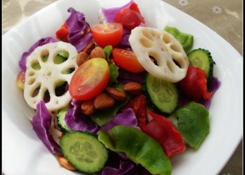 秋季做款防秋燥润肺止咳的凉拌菜——时蔬沙拉