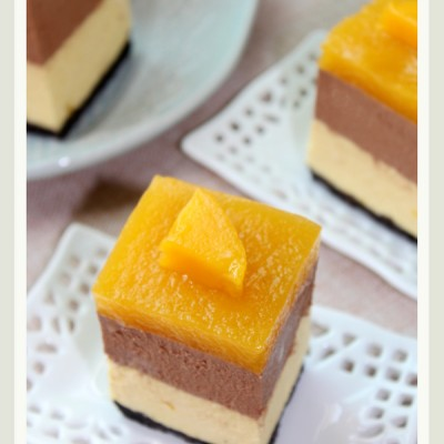 新手也可以做出口感不亚于品牌店的蛋糕―免烤黑巧芒果冻芝士