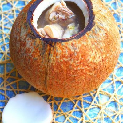 原只椰子清炖鸡汤粤式汤的三种基本做法
