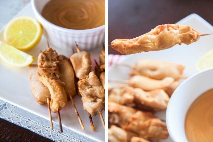 《沙爹鸡肉串》东南亚风味小吃,热爱到从路边摊到餐厅