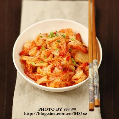 简单又出彩的超级下饭菜:【韩式泡菜虾】
