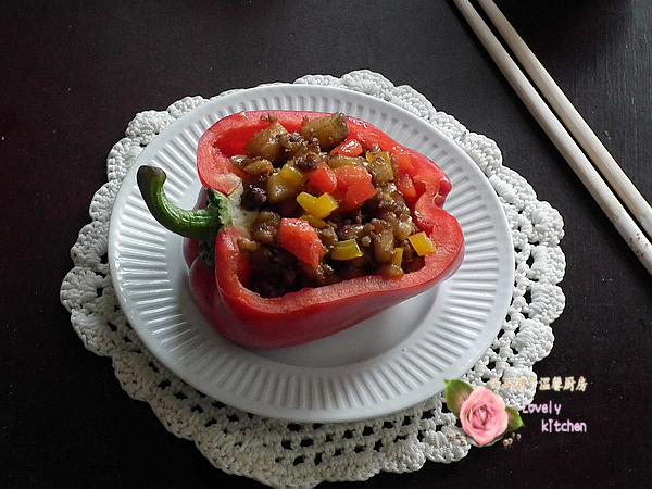 让妈妈高兴,孩子喜欢的彩椒茄丁盅