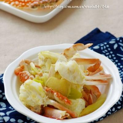 炒蟹一定要选对品种:鲜嫩清甜的姜葱炒花蟹