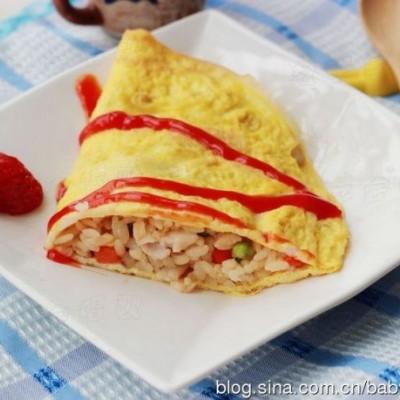 简单一招让蛋皮不破轻松做蛋包饭——【蛋包饭】