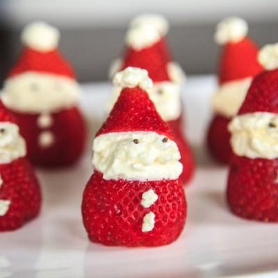 《草莓圣诞老公公》可爱到舍不得吃掉,预祝圣诞快乐,新年快乐