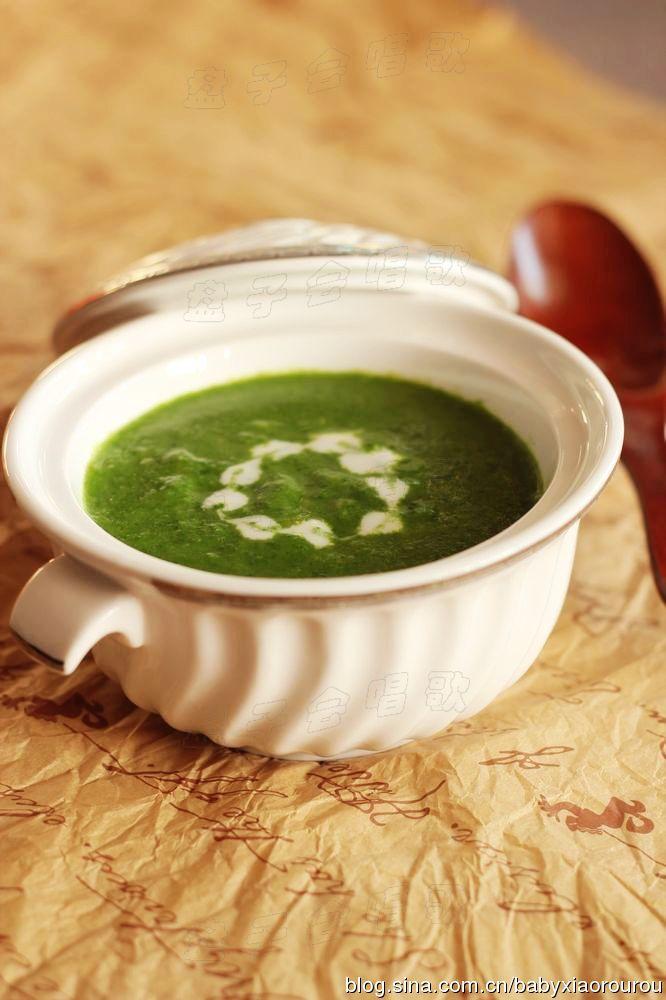 滋润全家人的一碗温暖浓汤——【菠菜奶油浓汤】