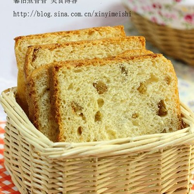 轻轻松松养颜----红糖葡萄干土司面包