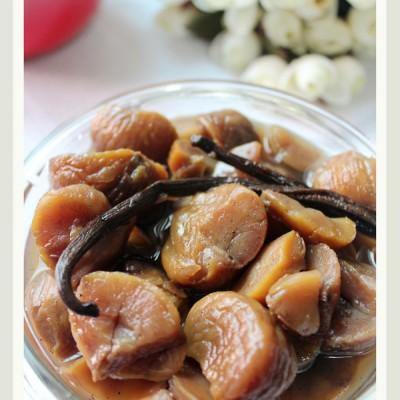 栗子风味甜点の基础篇—香草风味的糖浆煮栗子