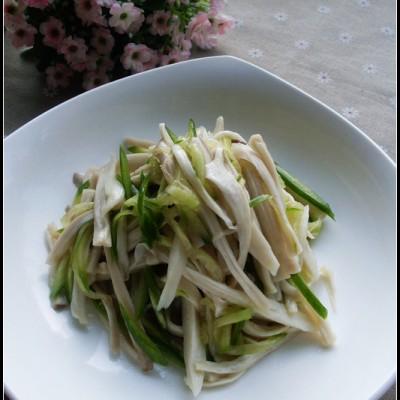 零厨艺也可以搞定的一道开胃凉拌菜——凉拌手撕杏鲍菇