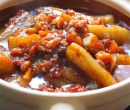 咸鱼茄子煲最具代表性的粤式茄子做法