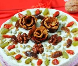 沪上春节传统糕点创新做---五谷丰登之五色百果松糕