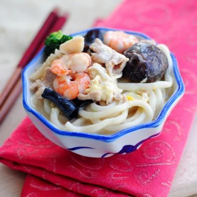 【财神迎春鲜虾面】为家人煮一碗暖胃暖心的星级面