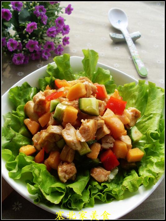 春节家宴上深受女士和小朋友喜欢的凉拌菜——桃红柳绿拌沙拉