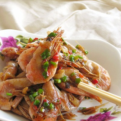 荣华富贵蚝油虾---星级年夜饭