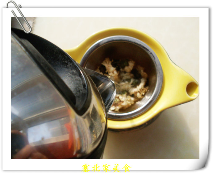 节后来一杯下火减肥茶——菊花普洱茶