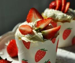 同胞们节日快乐!------鲜草莓杯子蛋糕