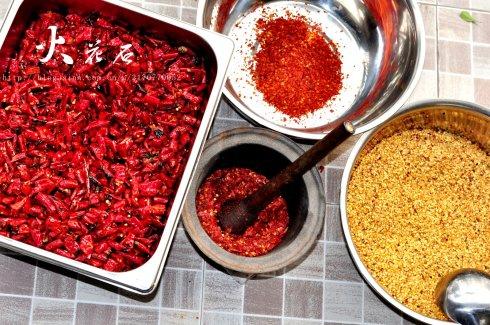 老成都辣椒油的制作之一辣椒面