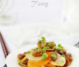 蔬香世家健康美食素身季---时髦的排毒养颜圣品菜肴---南极海茸筋炒双蔬