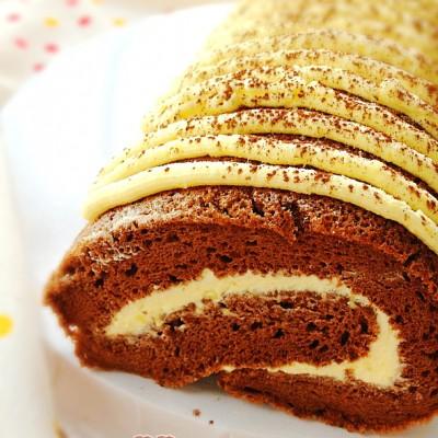 倒春寒中的能量下午茶【奶油巧克力蛋糕卷】