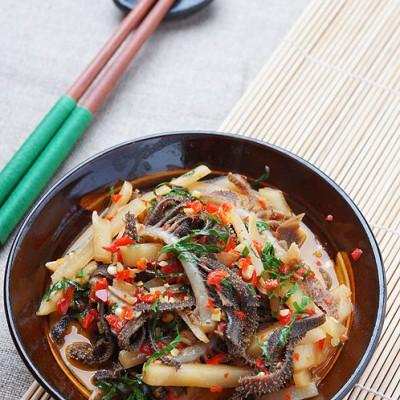 南宁草根最喜欢的大排档小炒——酸笋炒牛百叶