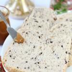 营养早餐里增加一款创意的黑米饭土司