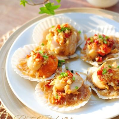 【蒜蓉粉丝蒸扇贝】在家也能玩转经典海鲜蒸菜