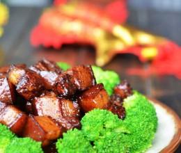 嗜肉一族不可错过的简易版红烧肉~~~~西兰花红烧肉