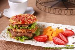 【土豆丝小饼】做一个有内涵的土豆饼&变身土豆饼小汉堡