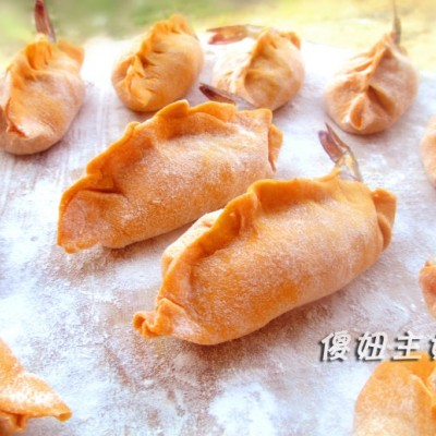 """""""美食感恩季""""黄金大虾蒸饺--为妈妈做发面蒸饺"""