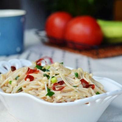 #美食感恩季#夏天为老妈做一道清爽的凉拌菜---葱油金针菇