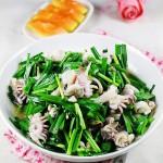 墨魚仔最經典的吃法----墨魚仔炒韭菜