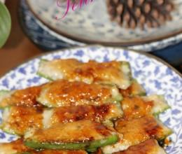 广东特色菜-辣椒酿鱼饼