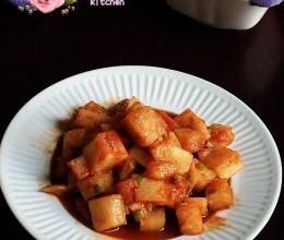 爽口开胃的韩式小菜----泡菜萝卜