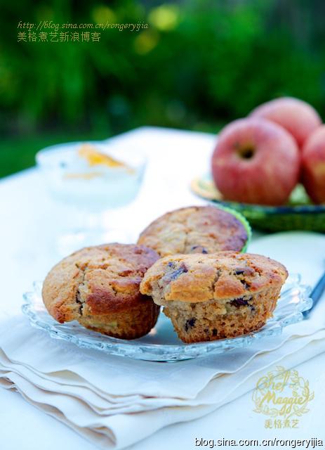 麦芬烤出苹果派的味道来-AppleCranberryOatMuffins