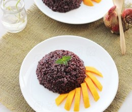 把泰国魂牵梦绕的椰香芒果饭带回家——【椰香芒果血糯米饭】