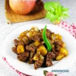 滋养脾胃、强健筋骨---黑椒苹果牛肉粒