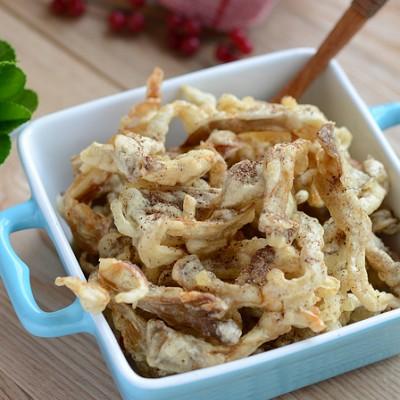 好吃又简单的香酥口儿椒盐蘑菇