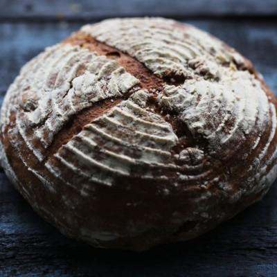 中秋核家欢乐,圆圆满满----天然酵母裸麦核桃面包